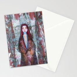 Magenta Flower Stationery Cards