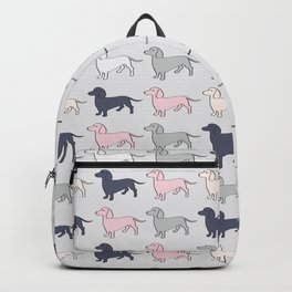 Doxie Love - Grey and Pink Backpack
