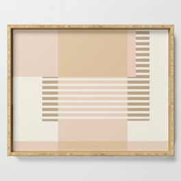 Marfa Abstract Geometric Print in Beige Serving Tray