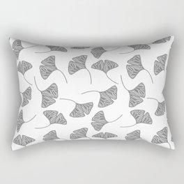 Ginkgo Leaves White & Black Design Pattern Rectangular Pillow