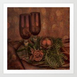 Red Christmas Art Print