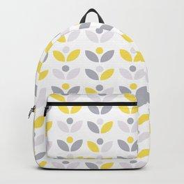Yellow and Grey Abstract Flower Pattern #society6 #decor #buyart #artprint Backpack