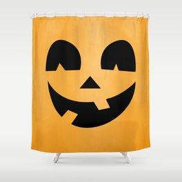 Silly Jack-O-Lantern Shower Curtain