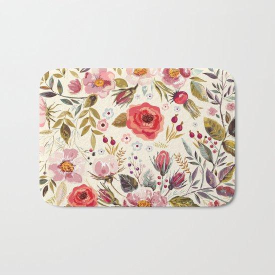 Floral Theme Bath Mat