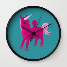 Unicorn with a Tumor Wall Clock