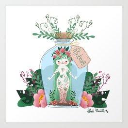 Miss Printemps Art Print