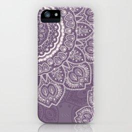 Mandala Tulips in Lavender ad Cream iPhone Case