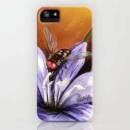 Fly on flower 10 iPhone Case
