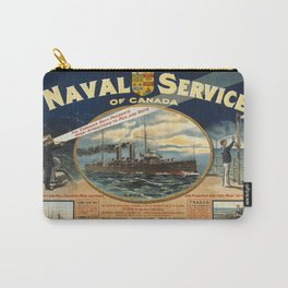 Vintage poster - Naval Service of Canada Carry-All Pouch