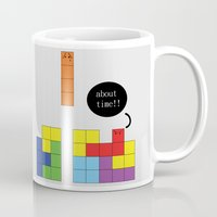 tetris Mugs featuring Tetris by Digital Sketch
