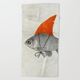 Goldfish with a Shark Fin Beach Towel