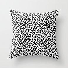 Berlin Boombox Oldschool Pattern Throw Pillow