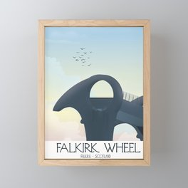Falkirk Wheel,Scotland travel poster Framed Mini Art Print