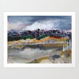 The Glass Lake Art Print