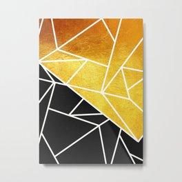 Coal and Gold Metal Print