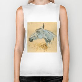 "Henri de Toulouse-Lautrec ""White Horse 'Gazelle'"" Biker Tank"