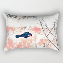 Red Wing Blackbird Rectangular Pillow