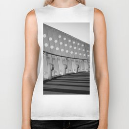 Ship architecture in black and white Biker Tank