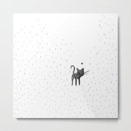 Loving in the rain Metal Print