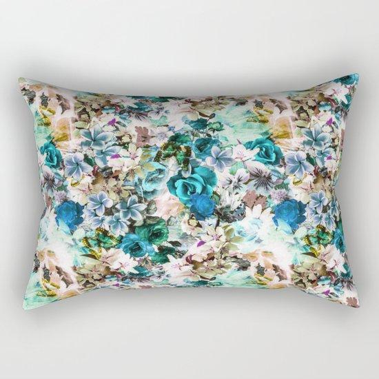 Floral Pattern V2 Rectangular Pillow