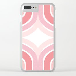 Pink Borderline Clear iPhone Case