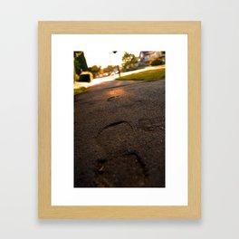 forever footsteps  Framed Art Print