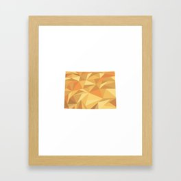 Colorado Pattern Map Art Framed Art Print