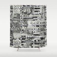 Exploiting Digital Behavior (P/D3 Glitch Collage Studies) Shower Curtain