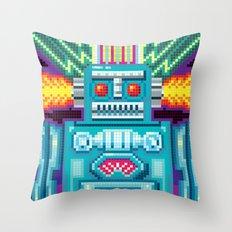 Pixel Robot Throw Pillow