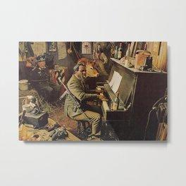 Reproduction Jazz Poster,Thelonious Monk  Underground Metal Print