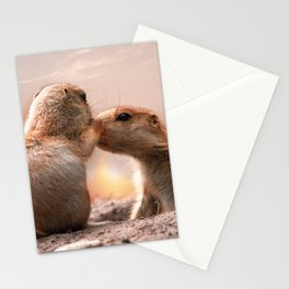 I #love #you #Mum, a #little #marmot äkisses his #mom Stationery Cards
