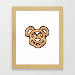 Mickey Mouse Pretzel Framed Art Print