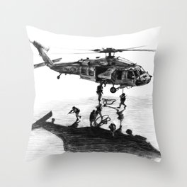 Fast Rope Throw Pillow