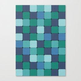 Blue Blocks Canvas Print