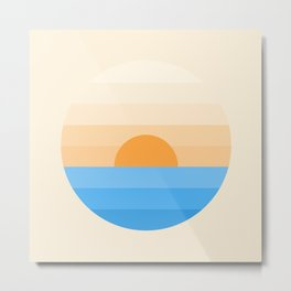 Sun goes down Metal Print