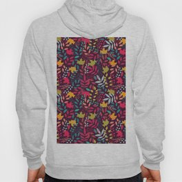 Autumn seamless pattern with floral decorative elements, colorful design Hoody