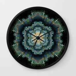 Abstract tweed flower mandala Wall Clock