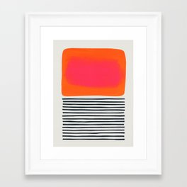 Sunset Ripples Framed Art Print