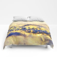 Ice Canyon in Purple and Gold Comforters