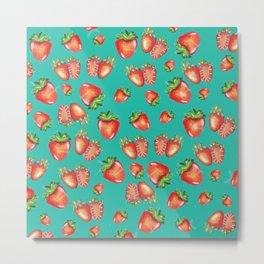 Strawberies pattern Metal Print