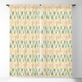 Burlap Pineapples Blackout Curtain