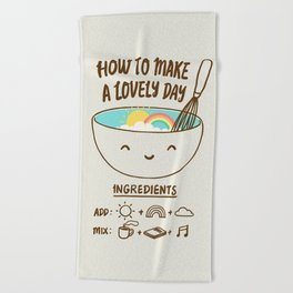 How to make a lovely day Beach Towel