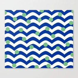 blue dotted waves Canvas Print