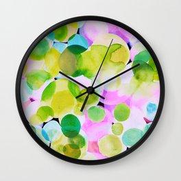Polka Dot Pink Wall Clock