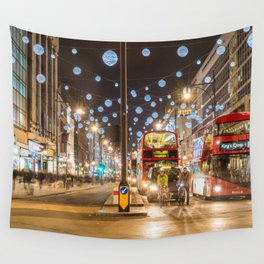 Christmas in London Wall Tapestry