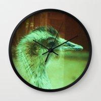 1975 Wall Clocks featuring Double Exposure error 1975 by RokinRonda