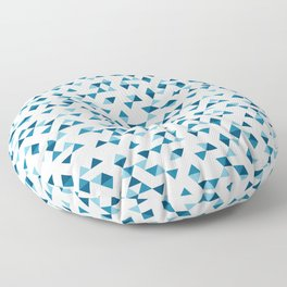 Triangles Blue Repeat Floor Pillow