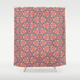 Origami Flowers, surface pattern Shower Curtain