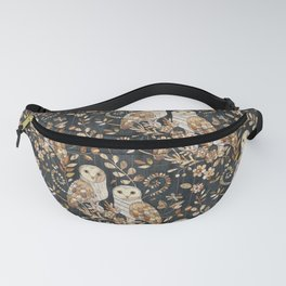 Wooden Wonderland Barn Owl Collage Fanny Pack
