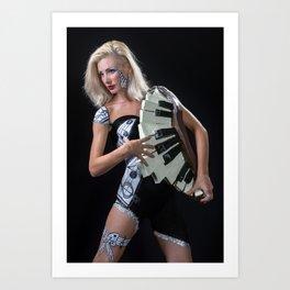 piano body mask Art Print